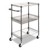 Alera® Wire Shelving Three-Tier Rolling Cart