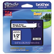 Brother P-Touch® TZe Series Standard Adhesive Laminated Labeling Tape