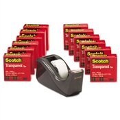 Scotch® Transparent Tape with Black Dispenser Value Pack