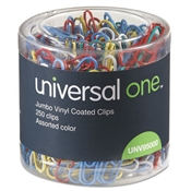 Universal ® Plastic-Coated Paper Clips