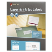 MACO® White Laser/Inkjet Internet Shipping Labels