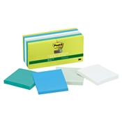 Post-it® Notes Super Sticky Recycled Notes in Bora Bora Colors
