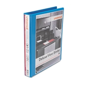 Universal ® Deluxe Round Ring View Binder