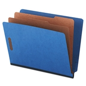 Universal ® Deluxe Six-Section Colored Pressboard End Tab Classification Folders