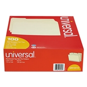 Universal ® Double-Ply Top Tab Manila File Folders