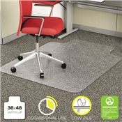 deflecto® EconoMat® Occasional Use Chair Mat for Commercial Low Pile Carpeting