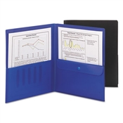 Smead ® Poly Two-Pocket Folders with Security Pocket
