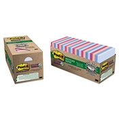 Post-it® Notes Super Sticky Recycled Notes in Bali Colors