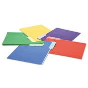 Universal® Deluxe Colored Top Tab File Folders