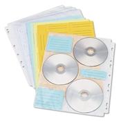 Innovera ® CD/DVD Three Ring Binder Pages