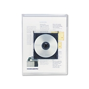 Universal ® Transparent Deluxe Locking Project Files with CD-ROM Holder