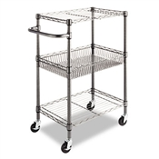 Alera® Wire Shelving Three-Tier Rolling Cart