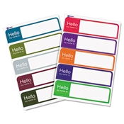 "Avery® ""Hello"" Flexible Self-Adhesive Mini Name Badge Labels"