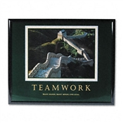 "Advantus® ""Teamwork-Great Wall of China"" Framed Motivational Prints"