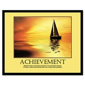 "Advantus® ""Achievement"" Framed Motivational Prints"
