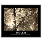 "Advantus® ""Sepia-tone Success"" Framed Motivational Prints"