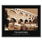 "Advantus® ""Sepia-tone Teamwork"" Framed Motivational Prints"