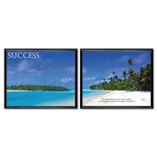 "Advantus® ""Success-Two Picture"" Framed Motivational Prints"