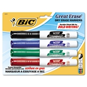 BIC® Great Erase® Grip Chisel Dry Erase Marker