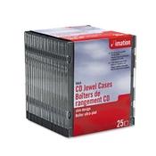 imation® CD/DVD Slim Line Jewel Cases