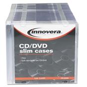 Innovera® CD/DVD Polystyrene Slim Storage Case