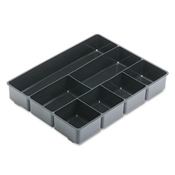 Rubbermaid Extra-Deep Plastic Desk Drawer Director Tray
