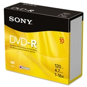 Sony® DVD-R Recordable Discs
