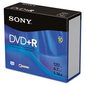Sony® DVD+R Recordable Discs