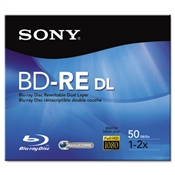 Sony® BD-RE Dual Layer Rewritable Discs