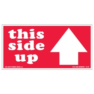 4 x 8 this side up w arrow labels 500 roll pratt plus