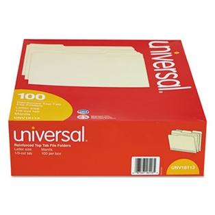 Universal® Double-Ply Top Tab Manila File Folders